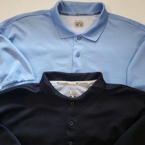 Lot of 2 Mens L Polo Shirt Columbia PFG